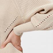 Gebreide trui (zonder wol)