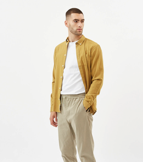 overhemd Jay mosterdkleur