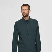 Groen stretch hemd