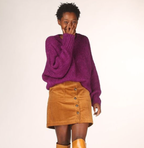 Grote gebreide trui