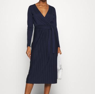 Jersey jurk plisse