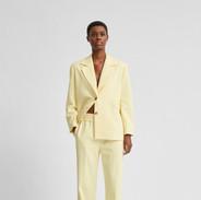 Pastel gele pantalon