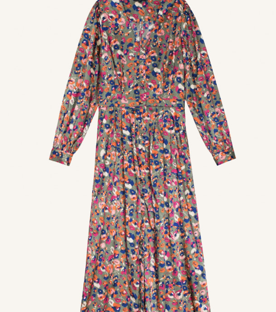Lange bloemen jurk