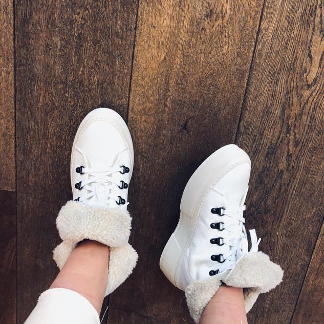Leren schoenen bont