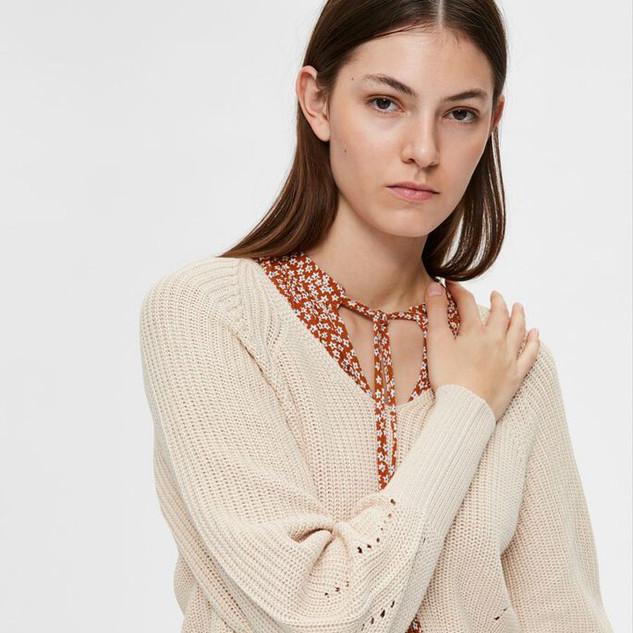 Gebreide trui zonder wol