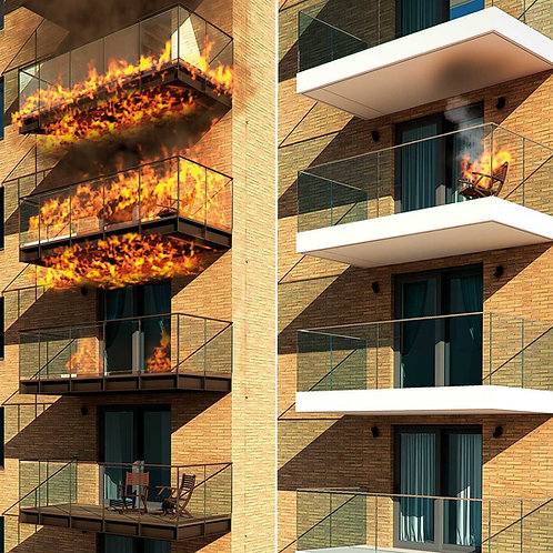 Balcony Fires: Learn from the past, an approach to the future