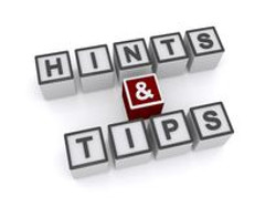 hints-tips-text-inscribed-black-uppercase-letters-white-cubes-white-background-3