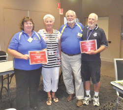 AGM 2014 - Disc Bowls Mixed Pairs Runners-Up- BEV & and Ross with Coral and Roy.