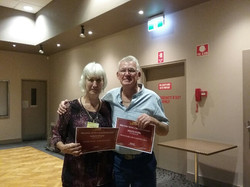 Mixed Pairs - Winners - Therese Jager and Peter Marsland