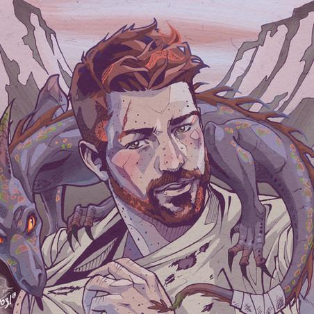 Charlie Weasley et le dragon