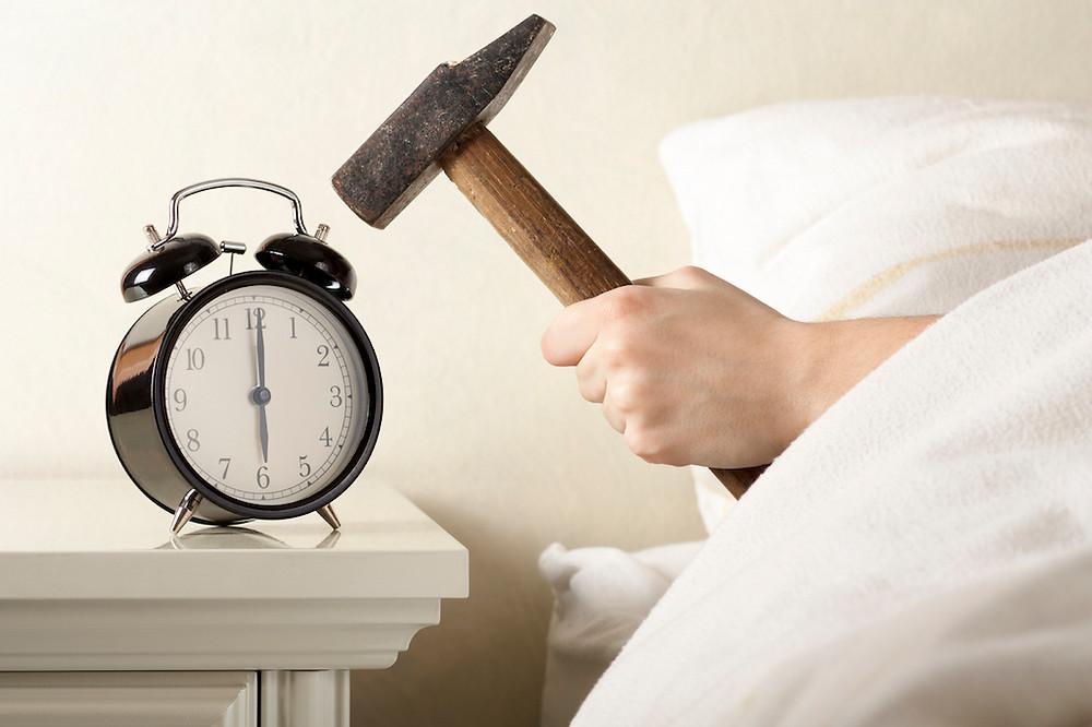 a smashing alarm clock lol