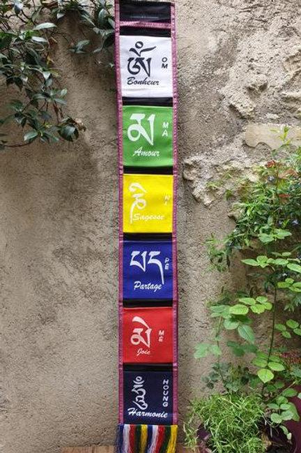 Bannière à pochettes(6) du mantra de la compassion