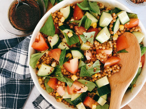 Pearl Couscous with Fresh Veg and Basil