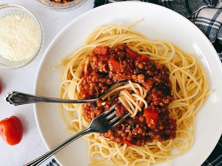 Lentil Quinoa Bolognese