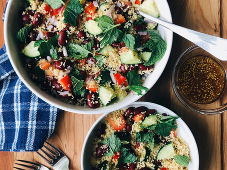 Whole Wheat Couscous with Red Wine Vinegar Dressing