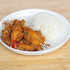 Salt & Pepper Chicken Ribs Rice