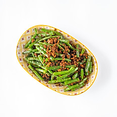 MINCED CHICKEN LONG BEANS