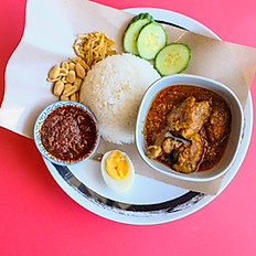 Nasi Lemak- Chicken Curry