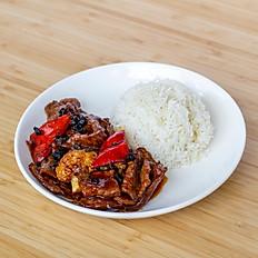 Black Bean Beef Rice