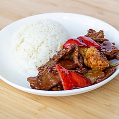 Black Pepper Beef Rice