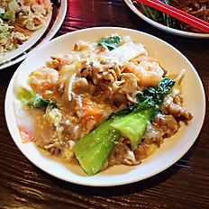 FLAT RICE NOODLE + EGG GRAVY  (aka Wa Tan Hor)