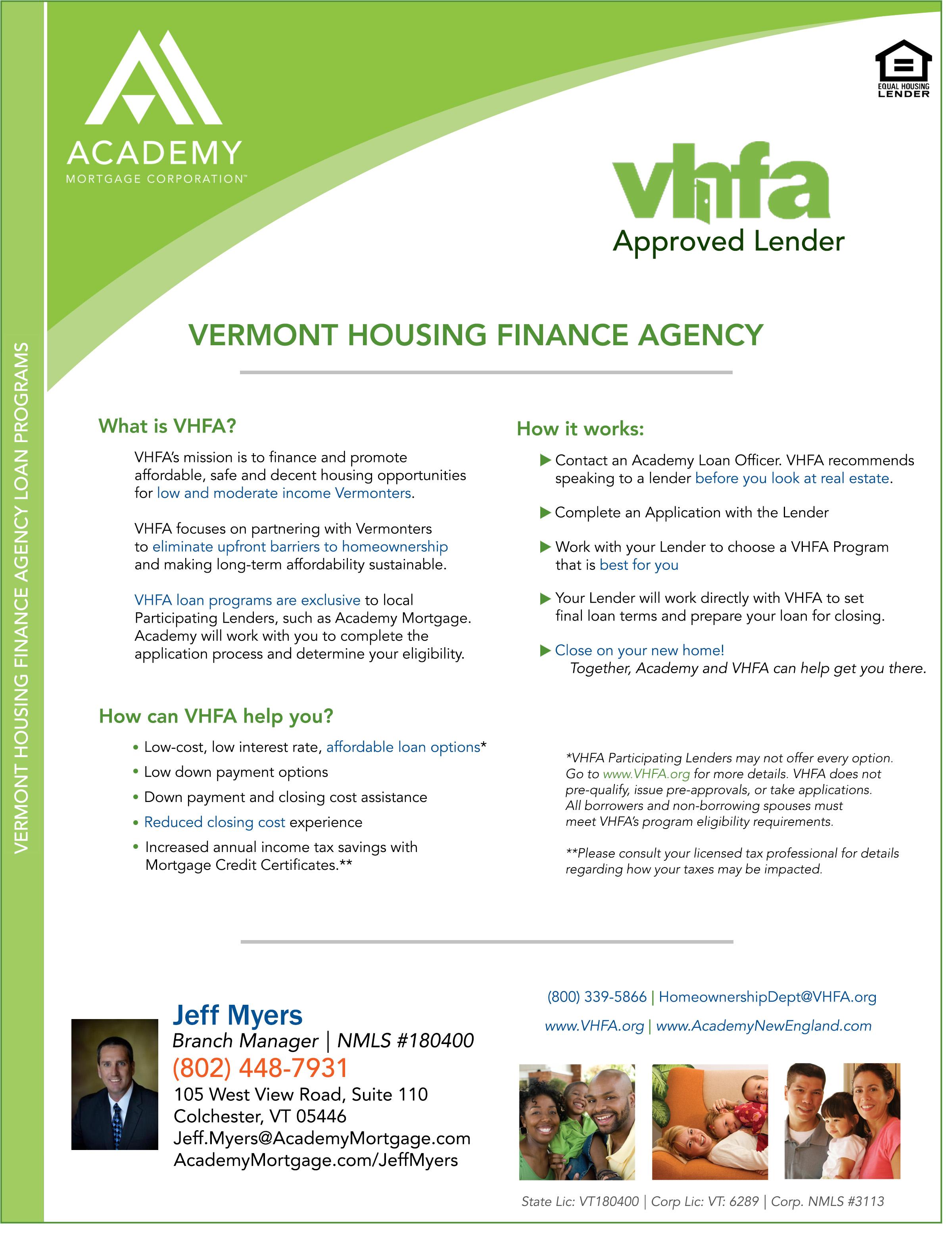 Vermont VFHA flyer myers
