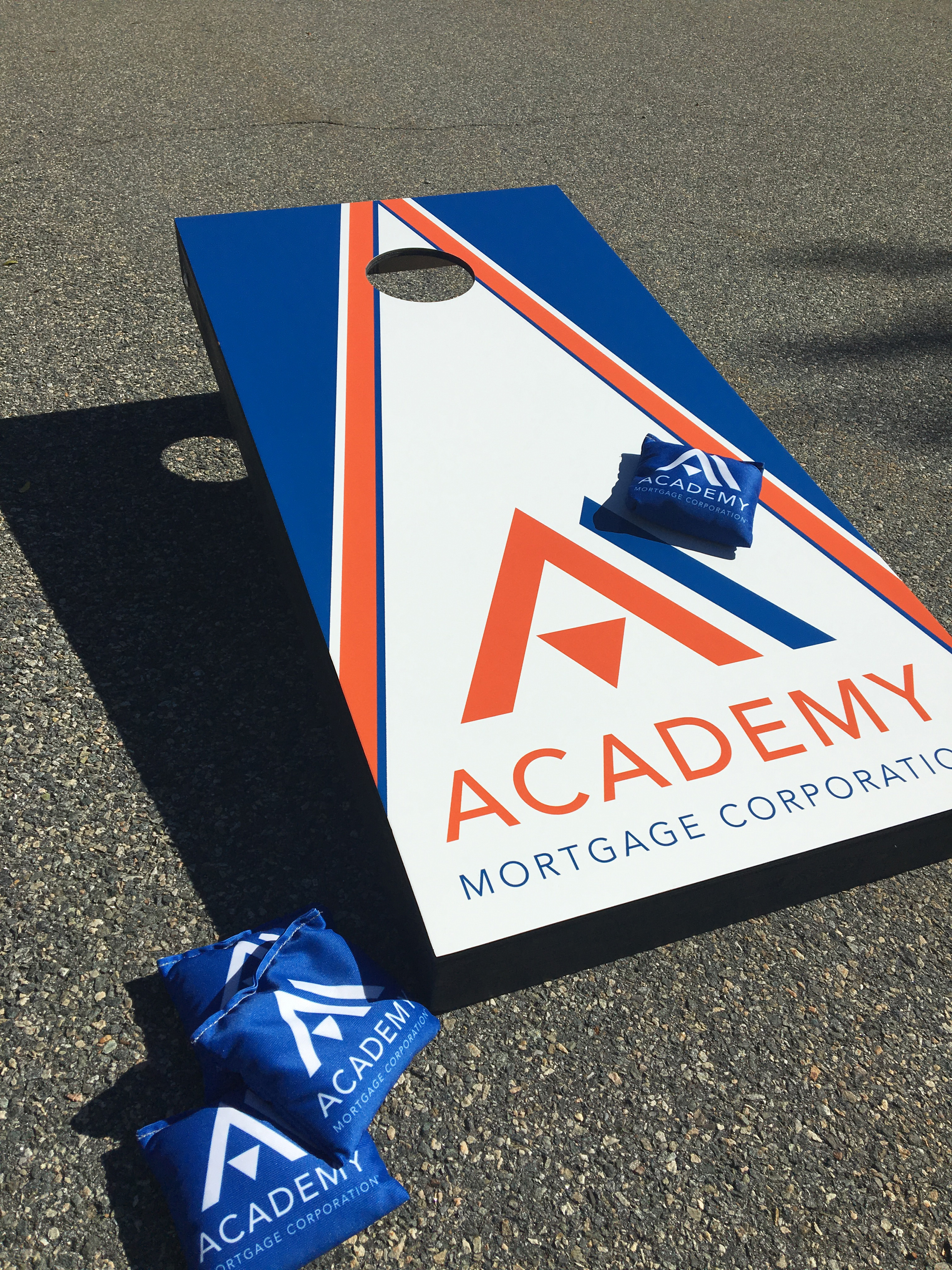 Academy Cornhole Board and Bags