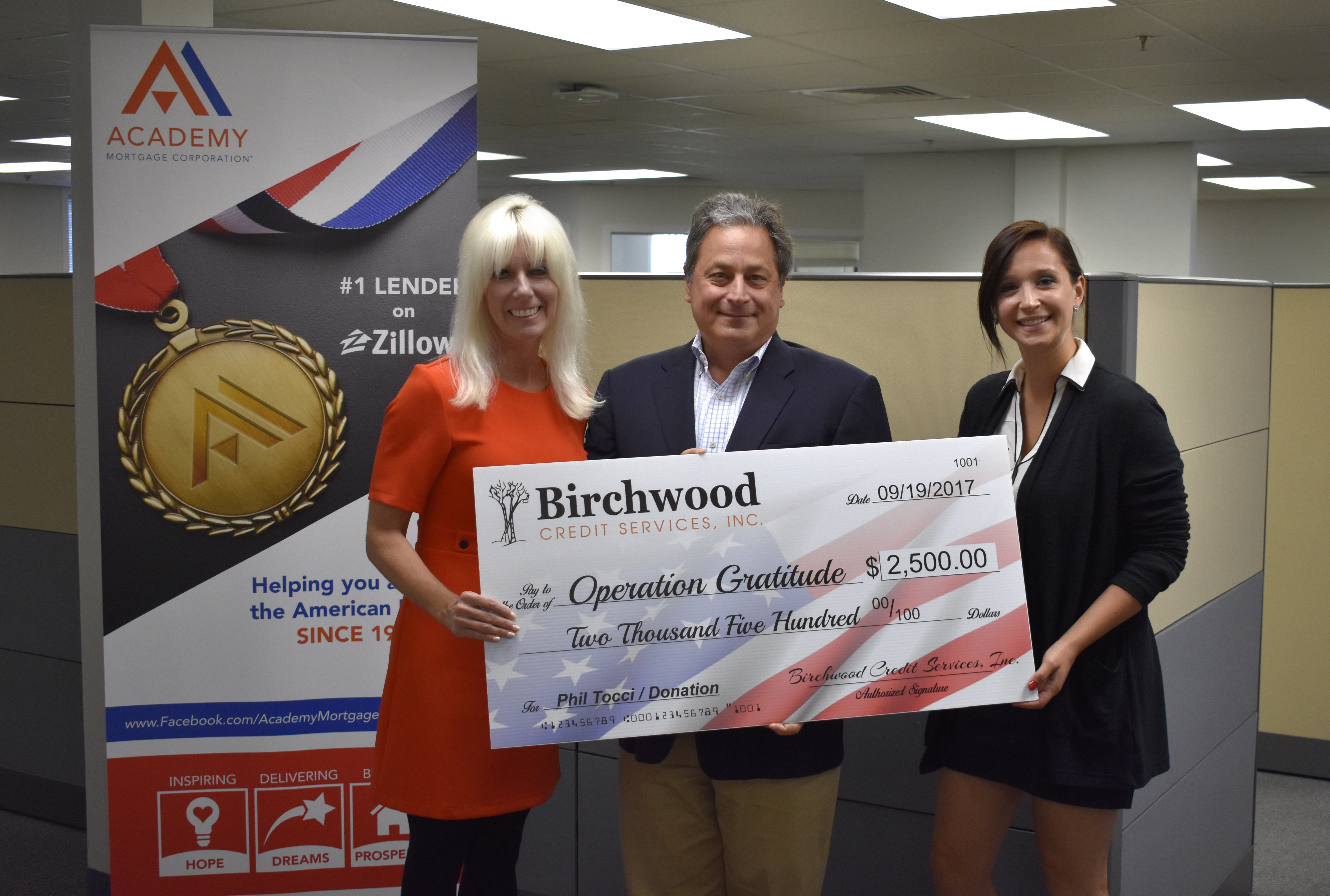Birchwood Donation, Tocci