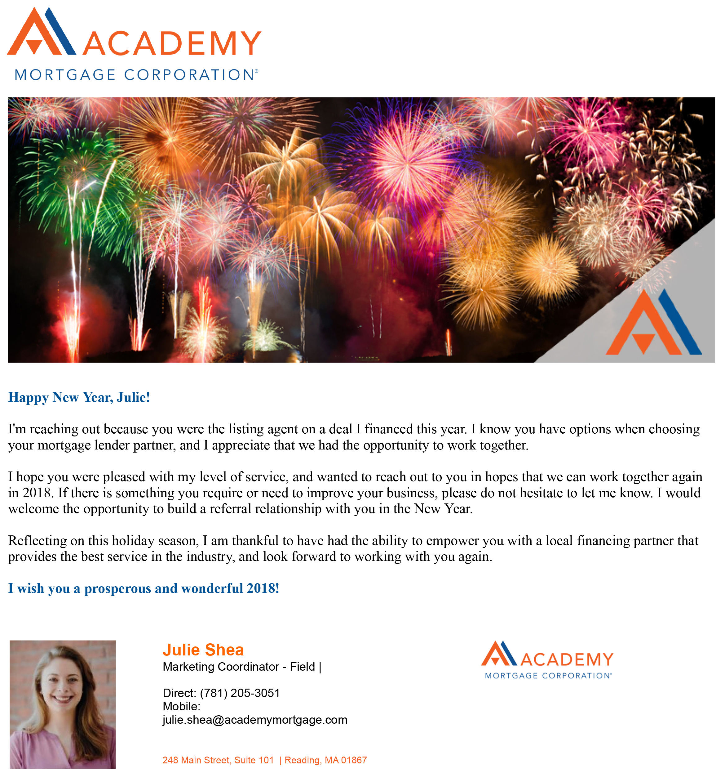 Happy New Year! Listing Agent