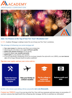 New Year, Lower Mortgage Payments!