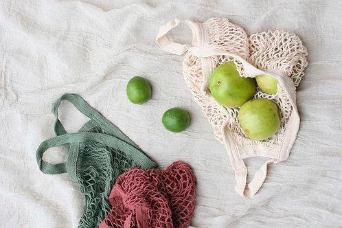 Bolsa tejida de algodón