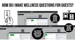 How do I make wellness questions for guests?