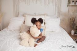 Novi Michigan One Year Baby Cake Smash Boho Lifestyle Photography Studio--8