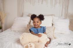 Novi Michigan One Year Baby Cake Smash Boho Lifestyle Photography Studio--10