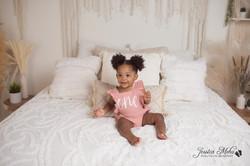 Novi Michigan One Year Baby Cake Smash Boho Lifestyle Photography Studio--3