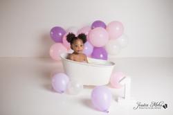 Novi Michigan One Year Baby Cake Smash Boho Lifestyle Photography Studio--17