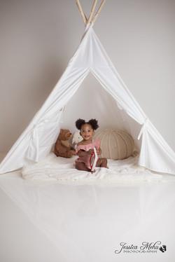 Novi Michigan One Year Baby Cake Smash Boho Lifestyle Photography Studio-