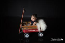 six month baby milestone professional photography studio Michigan--11