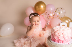Baby's First Birthday Pictures Cake Smas