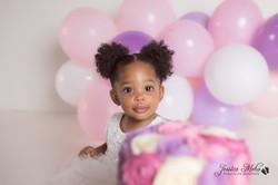 Novi Michigan One Year Baby Cake Smash Boho Lifestyle Photography Studio--16