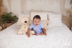 six month baby milestone professional photography studio Michigan--20
