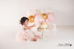 Ann Arbor Michigan One Year Baby Cake Smash Boho Lifestyle Photography Studio--17