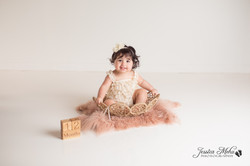 Ann Arbor Michigan One Year Baby Cake Smash Boho Lifestyle Photography Studio--9