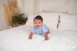 six month baby milestone professional photography studio Michigan--22