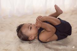 six month baby milestone professional photography studio Michigan--19