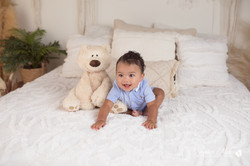 six month baby milestone professional photography studio Michigan--21