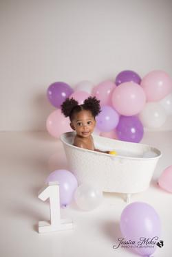 Novi Michigan One Year Baby Cake Smash Boho Lifestyle Photography Studio--19