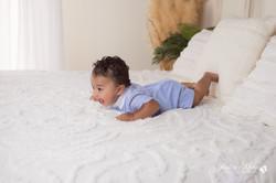 six month baby milestone professional photography studio Michigan--25
