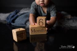six month baby milestone professional photography studio Michigan--7