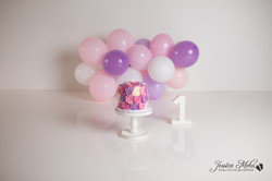 Novi Michigan One Year Baby Cake Smash Boho Lifestyle Photography Studio--14